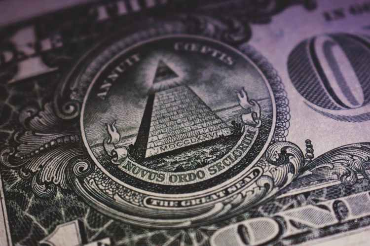 close up of one us dollar
