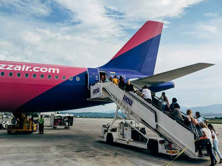 people boarding airline